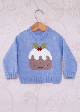 Intarsia - Christmas Pudding Chart - Childrens Sweater