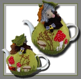 Hedgehog Mushroom Tea Cozy pattern