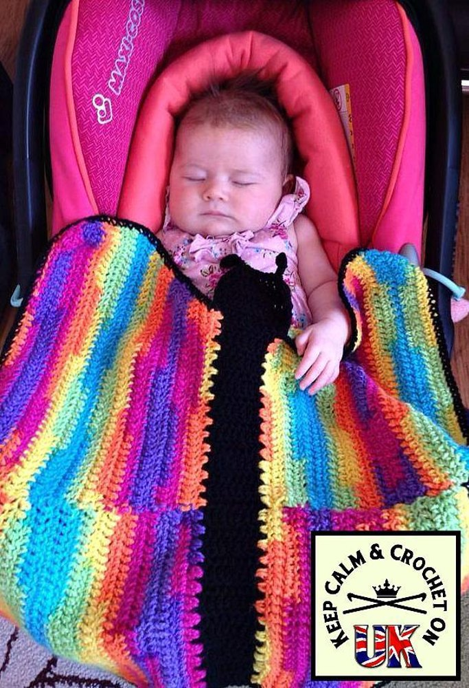 Butterfly Dreams Car Seat Swaddle Blanket Crochet Pattern By Keep Calm And On UK