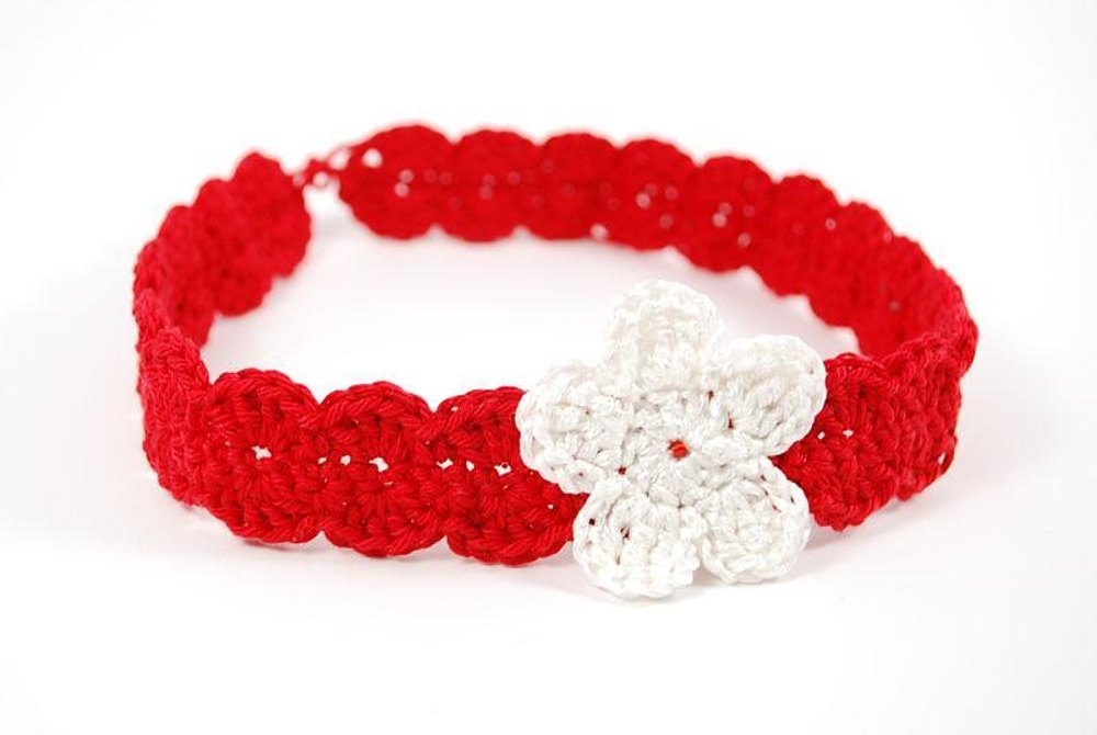 Red Heart Free Pattern Lw2254 Crochet Flower Headband : Flower and Shells Headband Crochet pattern by Nuria Pastor ...