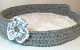 Chunky Crochet Cat / Pet Bed Basket