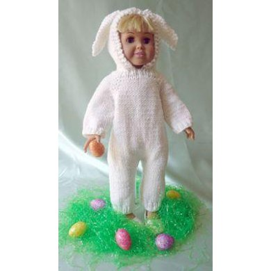 Easter Bunny, Halloween Cat Costume, Knitting Patterns fit American Girl and other 18-Inch Dolls