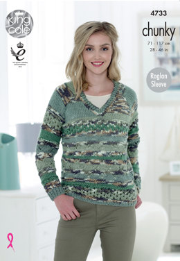 Sweater & Cardigan in King Cole Big Value Multi Chunky - 4733 - Leaflet