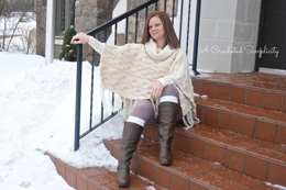 Urban Cabled Poncho