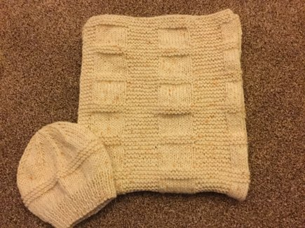 Squares And Stripes Buggy Car Seat Blanket Knitting