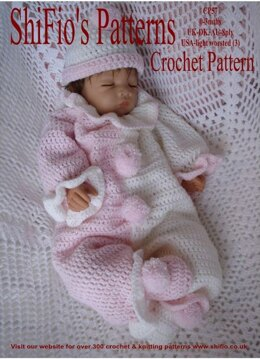 Crochet Pattern baby clown suit UK & USA Terms #57
