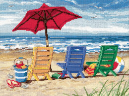 Dimensions Beach Chair Trio Tapestry Kit - 41 x 30 cm