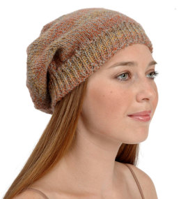 Slouchy Hat in Plymouth Encore Worsted - F302