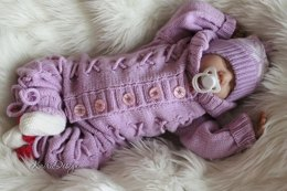 Baby knitted jumpsuit with ties