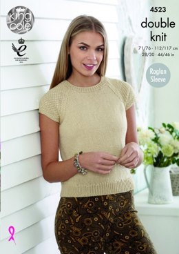 Cardigan and Top in King Cole Smooth DK - 4523 - Leaflet