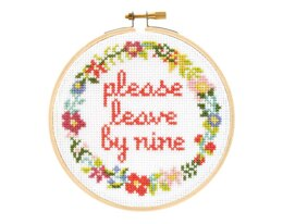 The Stranded Stitch Please Leave By Nine Cross Stitch Kit - 5 inches