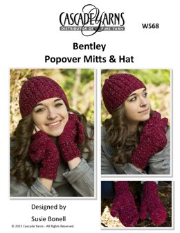 Popover Mitts and Hat in Cascade Yarns Bentley - W568 - Downloadable PDF