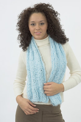 Ribbed Scarf in Plymouth Heaven - F145