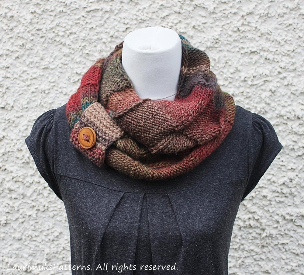 Amelia infinity scarf knitting pattern by laurimuks patterns amelia infinity scarf zoom bankloansurffo Image collections