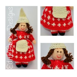 Danish Cross Christmas Elf Doll