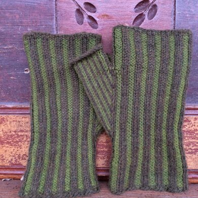 Vertical Stripe Mitts