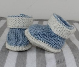 Baby 2 Colour Booties