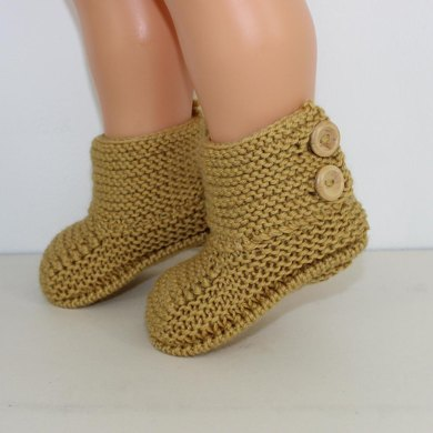 Baby Simple Button Up Booties Knitting Pattern By Madmonkeyknits