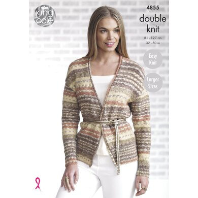 Ladies' Cardigan and Waistcoat in King Cole Drifter DK - 4855 - Downloadable PDF