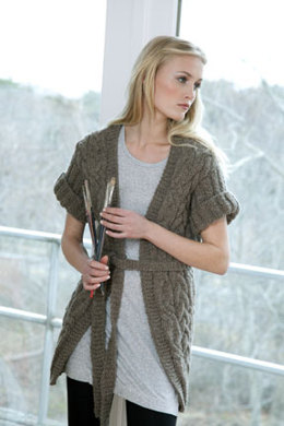 Sandstone Cabled Coat in Tahki Yarns Montana