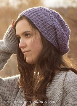 Wisteria Slouch Hat ~ Crochet Version