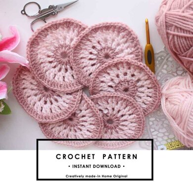 Easy and beautiful crochet coaster pattern