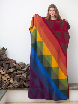 Shaded Colors Afghan in Lion Brand Wool-Ease - L32310