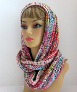 Bamboo Bloom Infinity Scarf / Cowl