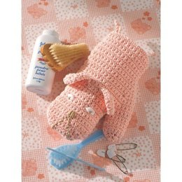Baby Bath Mitt in Lily Sugar 'n Cream Solids