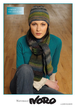 Cowslip Hat and Scarf in Noro Silk Garden