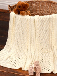 Irish Eyes Baby Blanket in Caron Simply Soft - Downloadable PDF