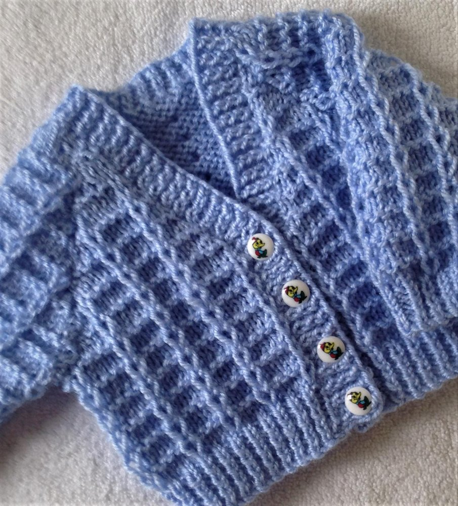 Knitting Pattern Baby Cardigan 8 Ply : Little Loops baby cardigan Knitting pattern by Seasonknits