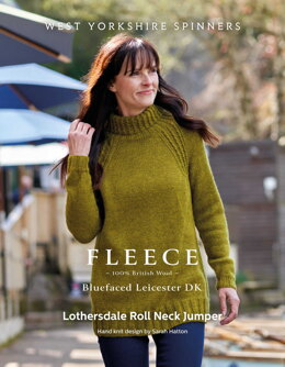 Lothersdale Roll Neck Jumper in West Yorkshire Spinners Bluefaced Leicester DK - DBP0176 - Downloadable PDF