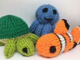 Under The Sea - Octopus, Clownfish, and Turtle