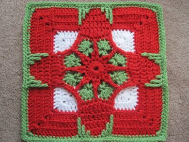 Holiday Ornament Afghan Square