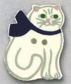 Mill Hill Button 86101 - Cat with Bow