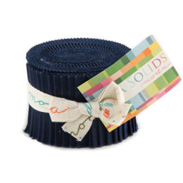 Moda Fabrics Bella Solids Junior Jelly Roll - Navy