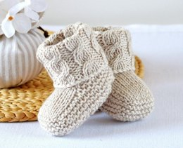 Cable Cuff Booties