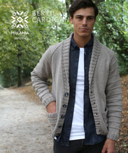Bertil Cardigan in MillaMia Naturally Soft Aran - Downloadable PDF
