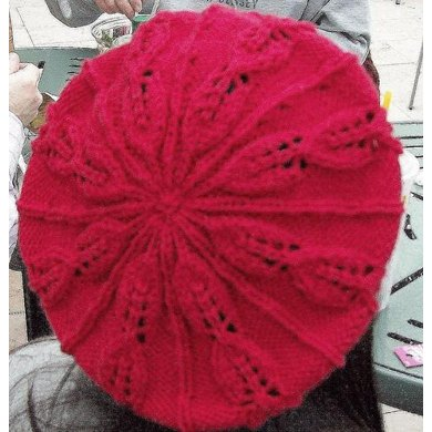 Embossed Leaf Beret and Cowl