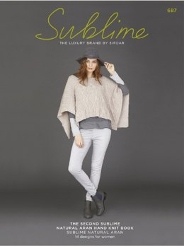 The Second Sublime Natural Aran Hand Knit Book