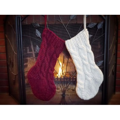 Super Cabled Christmas Stocking