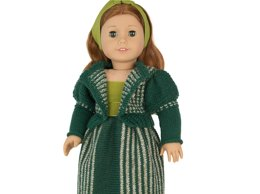 Cardigan with Gigot Sleeves for American Girl doll