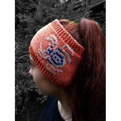 Spooky Spider Earwarmer Headband for Halloween