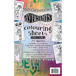 "Ranger Dyan Reaveley's Dylusions Coloring Sheets #2 5""X8"" - 2 Each Of 12 Designs"