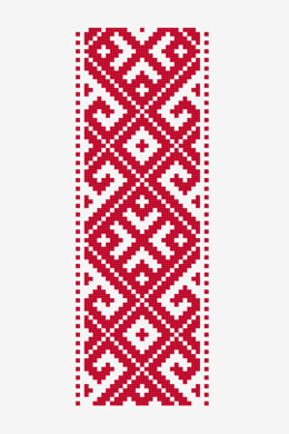 Geometric Romanian Banner in DMC - PAT0701 - Downloadable PDF