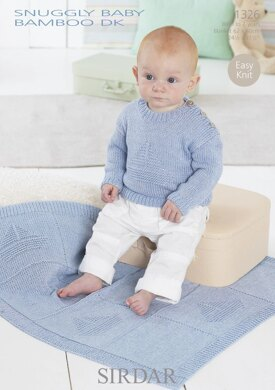 Sweater and Blanket in Sirdar Snuggly Baby Bamboo DK - 1326
