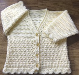 DK Crochet Cardigan Pattern For Baby/Child. Birth to 6 years (1016)