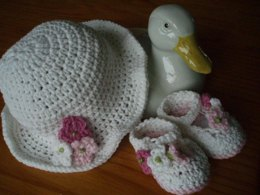 Summer Flowers Sunhat and Shoes