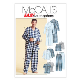McCall's Men's Robe, Belt, Tops, Pants and Shorts M4244 - Sewing Pattern